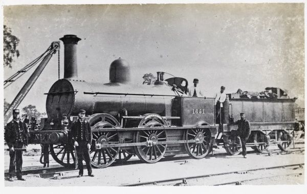 Locomotive no 1651 0-6-0 L&NWR with crane Date
