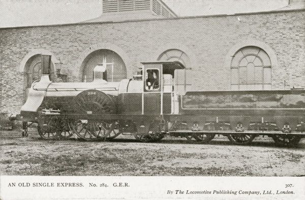 Locomotive no 284 an old single express Date