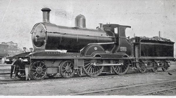 Locomotive no 309 four coupled bogie express Date