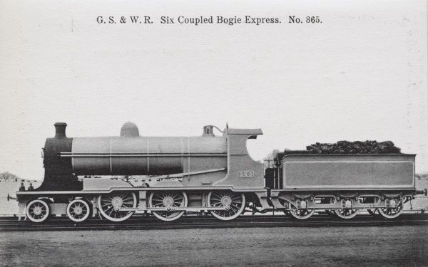 Locomotive no 365 six coupled bogie express Date