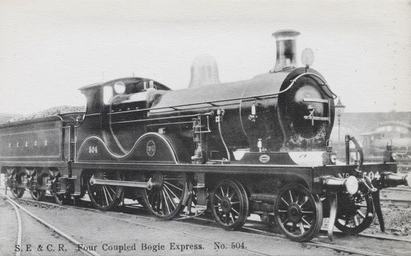 Locomotive no 504 four coupled bogie express Date