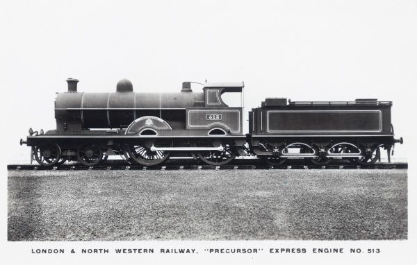 Locomotive no 513 'Precursor' built in 1904 for the L&NWR Date: 1904