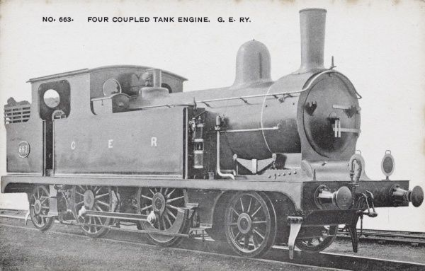 Locomotive no 663 four coupled tank engine Date