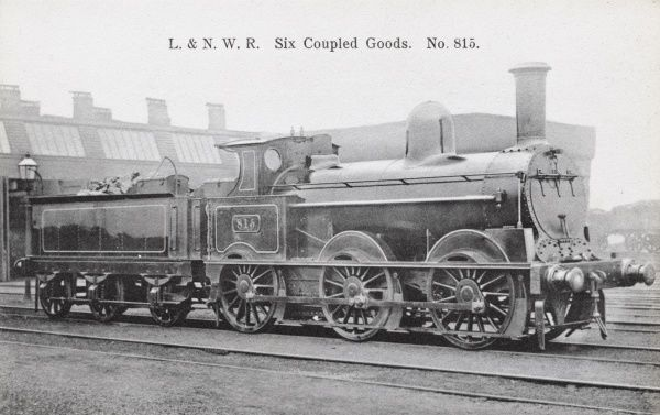 Locomotive no 815 0-6-0 goods engine L&NWR Date