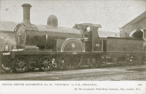 Locomotive no 88 'Victoria' single driver locomotive Date
