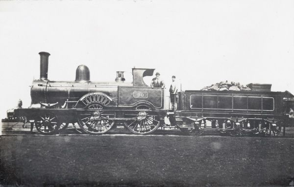 Locomotive no 90 'Luck of Edenhall' built in 1874 for the L&NWR Date: 1874