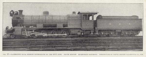 Locomotive with Schmidt superheater of the 4-8-2 type Date