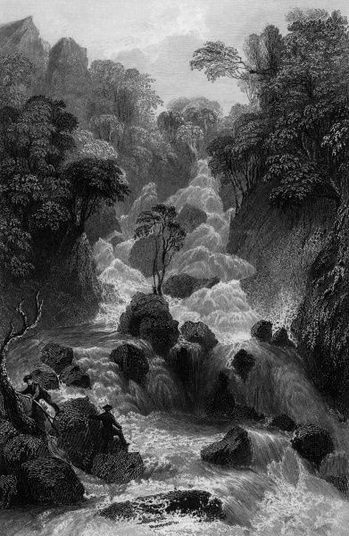 Lodore Falls, Lake District Date: 1833