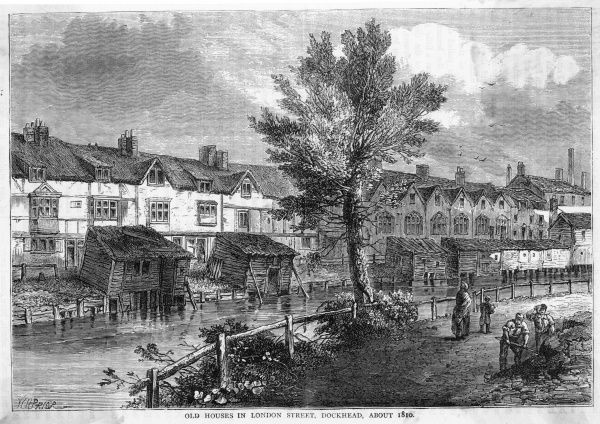 London Street, Dockhead, in the early 19th century
