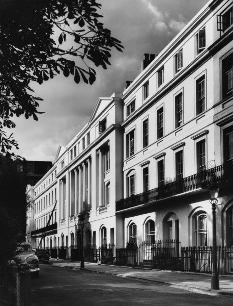 Chester Terrace, designed by the famous English Regency architect John Nash in 1825, Regent's Park, London