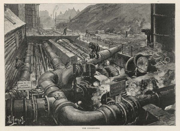 London Gas Company, Old Kent Road: the condensers (very large pipes)