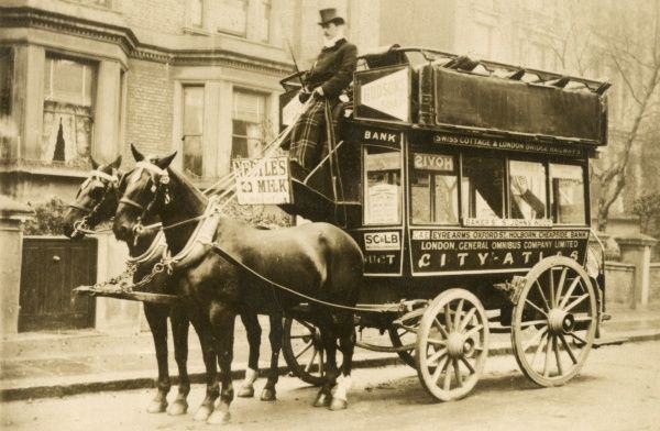 London General Omnibus Company horse drawn Bus, 1901 1901