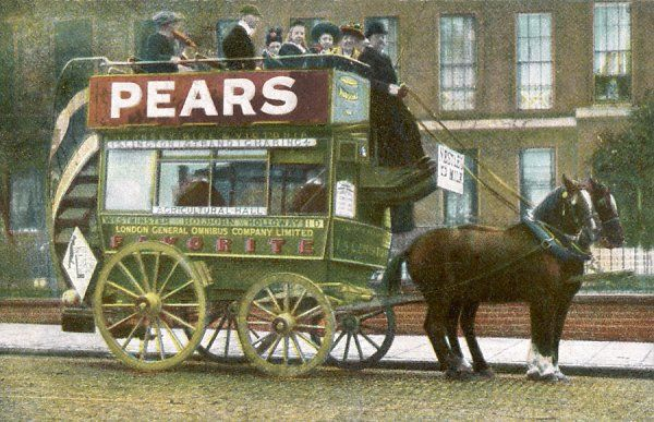 A London horse bus - Islington to Charing Cross