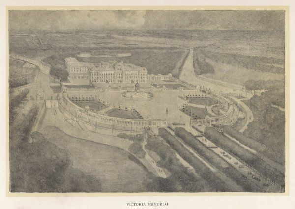Proposed 'Victoria Memorial' at Buckingham Palace, aerial view