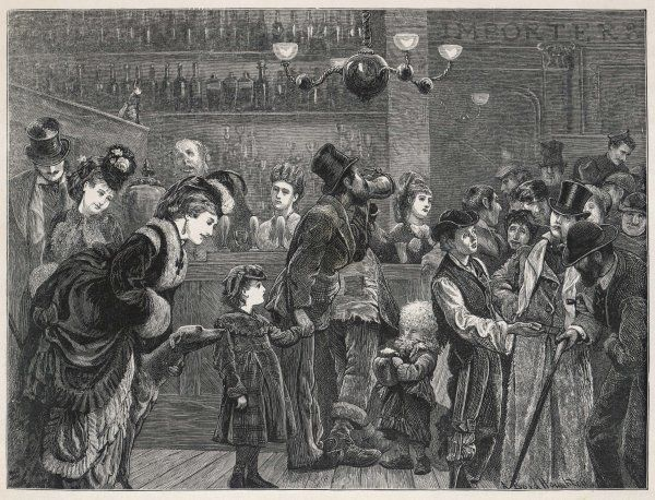 'Before the bar' - a London pub of the kind which replaced the old 'gin-palace&#39