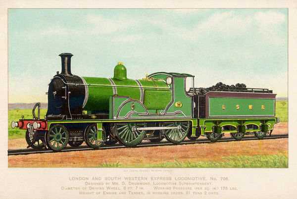London and South Western Railway locomotive no 706