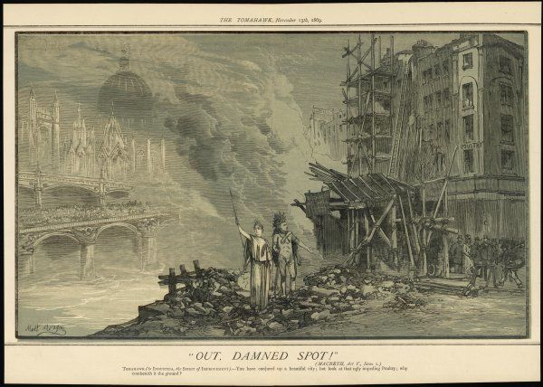 'Out, damned spot !' - the Victorians demolish unsavoury slums as fast as they can, but their urban renewal entails the destruction of many historic buildings