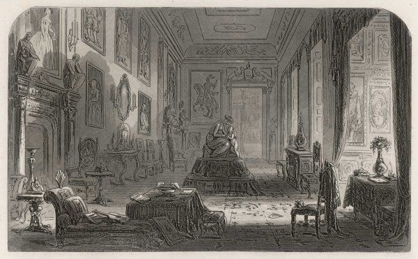 Sunset in the long Drawing- room at Chesney Wold Date: First published: 1852-53