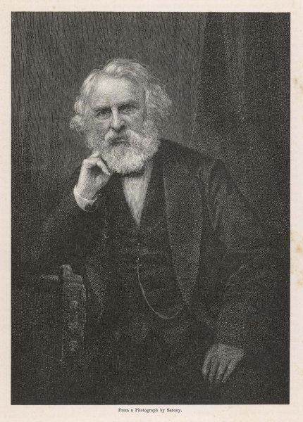 HENRY WADSWORTH LONGFELLOW American poet, best known for 'The Song of Hiawatha' (1855)