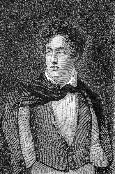 Engraved portrait of George Gordon Noel Byron, 6th Baron Byron of Rochdale (1788-1824), the English poet and society figure
