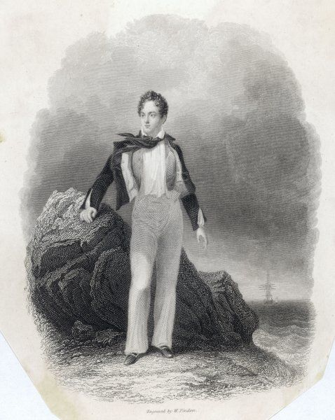 GEORGE GORDON, LORD BYRON English poet in 1807