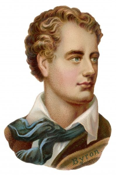 GEORGE GORDON,LORD BYRON English Romantic poet, as a Victorian scrap
