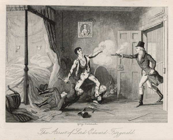 The arrest and wounding of Lord Edward Fitzgerald