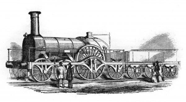 The Great Western Railway Broad Gauge Locomotive 'Lord of the Isles', 1851. Date: 1851
