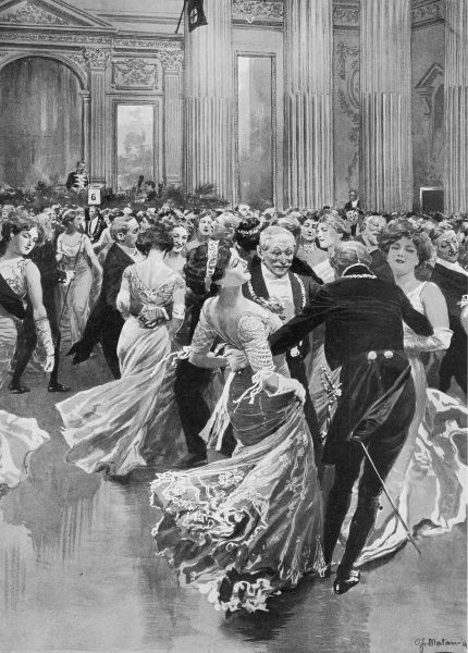 Illustration showing the Lord Mayor of London's Ball for all the lord mayors, mayors, lord provosts and provosts in the United Kingdom at Mansion House, London, 1909