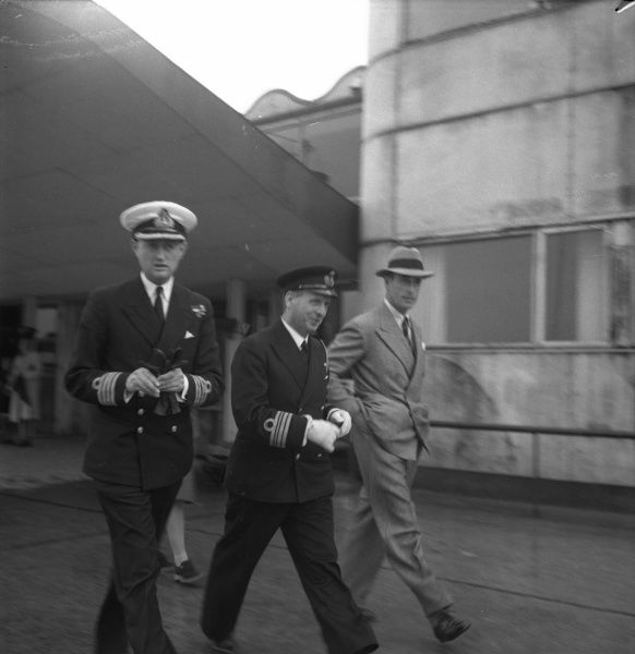 Earl Mountbatten of Burma ( Lord Mountbatten ), 1900-1979,Admiral of the Fleet 1956, viceroy of India, visiting Malmo, Sweden 1946. Date: 1946