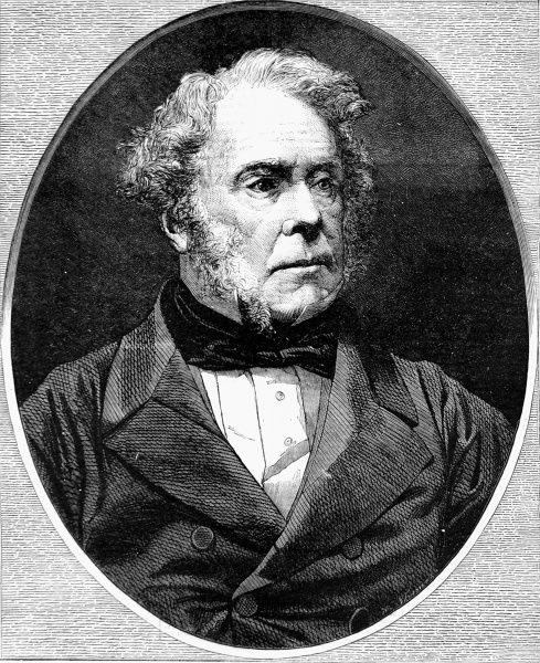 Engraving of Henry John Temple, 3rd Viscount Palmerston, the English Statesman, published during his last term as Prime Minister, between 1859 and 1865