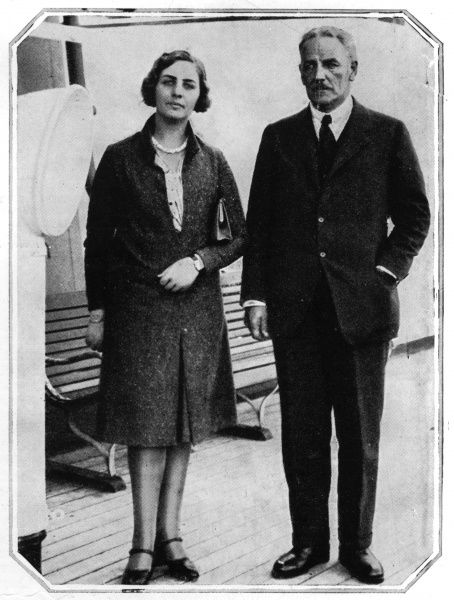 Lord Redesdale and his daughter Pamela Mitford preparing to depart to Canada to go gold prospecting in Northern Ontario. Date: 16th July 1930