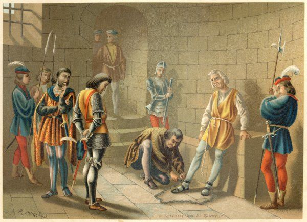Columbus, arrested by the governor, Bobadilla, for insubordination
