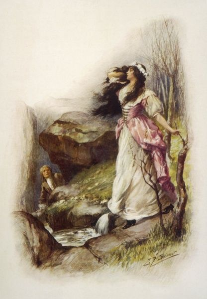 John Ridd encounters Lorna Doone seven years after their first meeting, at the very same stream