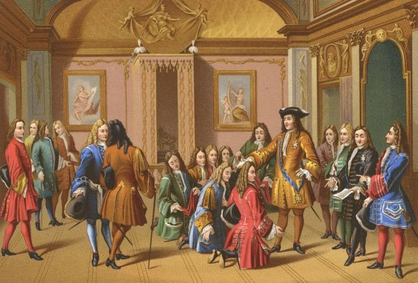 Louis XIV founds the military order of St. Louis. Date: circa 1700