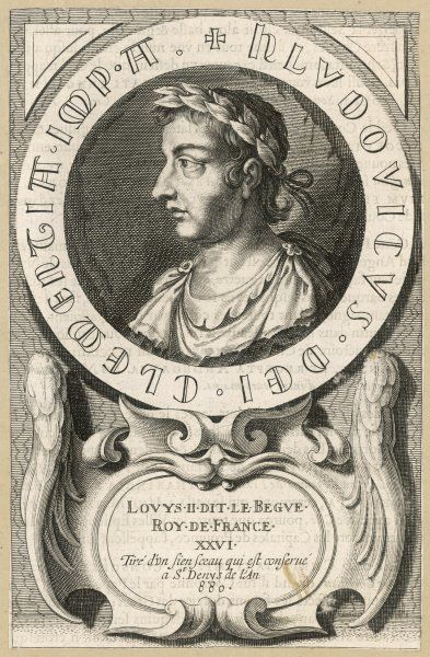 LOUIS II LE BEGUE (= 'The Stammerer') king of France