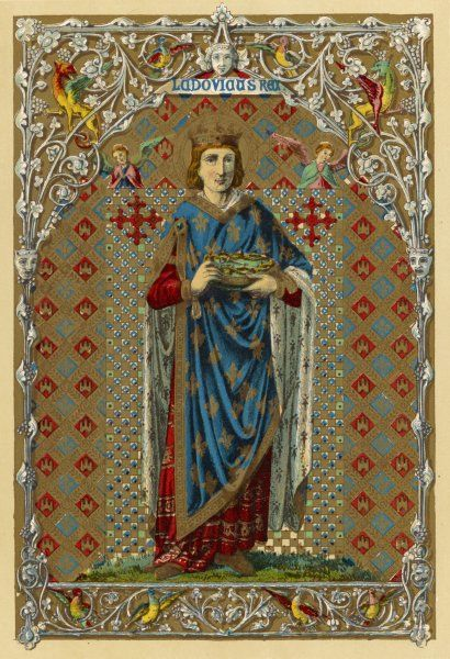 LOUIS IX king of France, crusader and saint