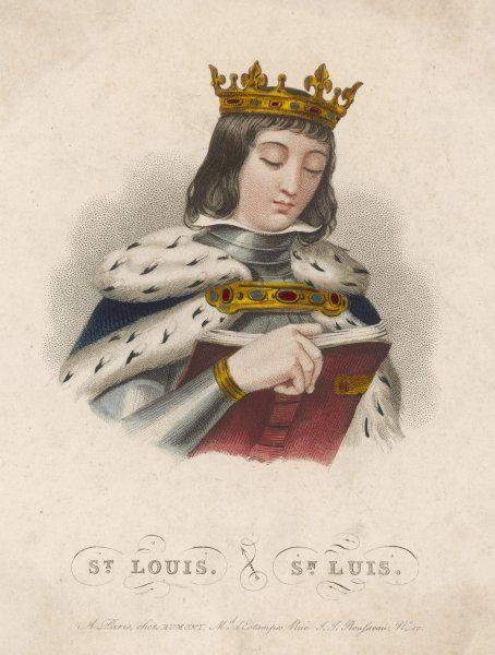 LOUIS IX king of France, crusader and saint, depicted reading a book