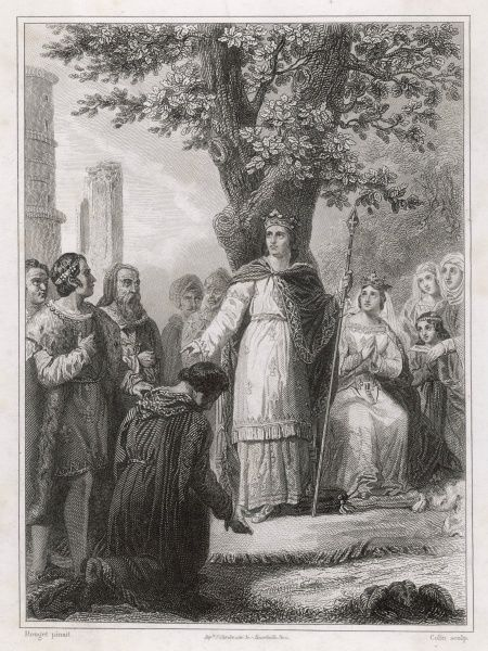 Louis IX dispenses justice to his people : doing this kind of thing will in due course get him made a saint