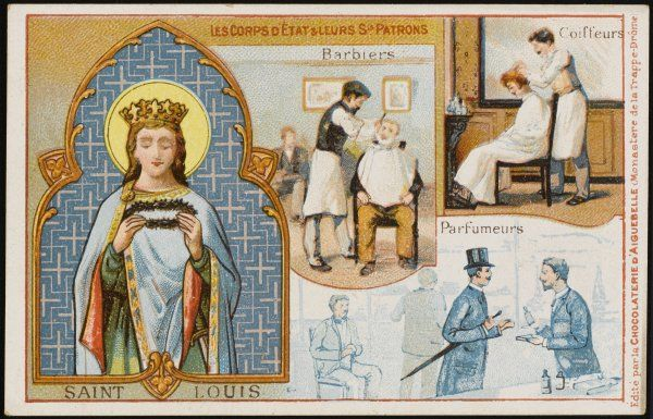 LOUIS IX, SAINT & CRUSADER Patron saint of hairdressers and perfumiers