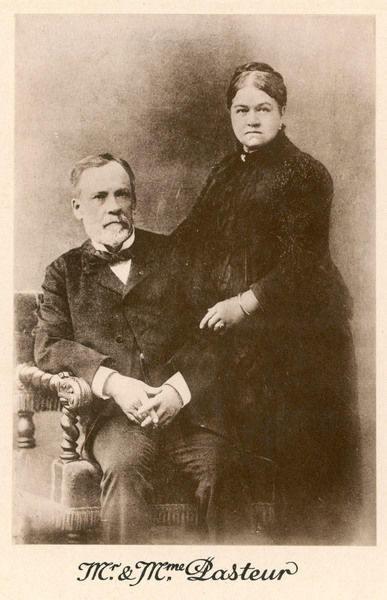 LOUIS PASTEUR French chemist and microbiologist with his wife, Marie (nee Laurent)
