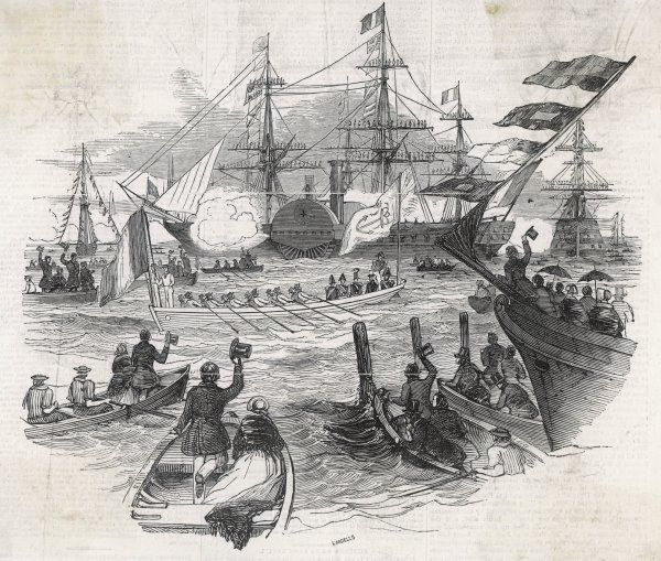 Louis-Philippe arrives at Portsmouth for a visit to Victoria : four years from now, his next trip to England will be a more permanent one
