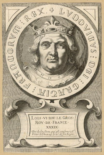 LOUIS VI LE GROS (the Fat) king of France