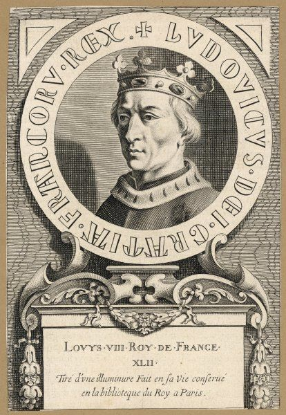 LOUIS VIII king of France