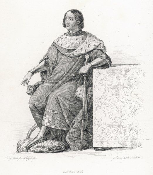 LOUIS XII roi de France grandson of Louis d'Orleans, who was the younger brother of Charles VI