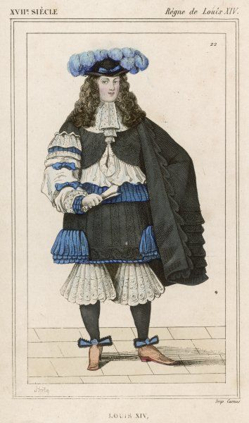 LOUIS XIV French monarch (picture dated 1660)