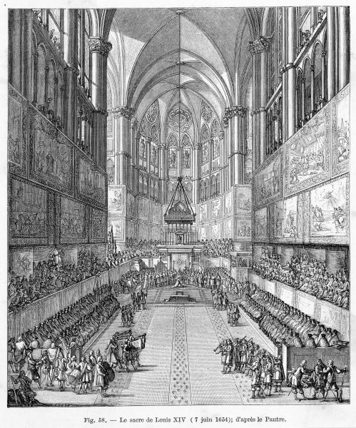 Louis XIV is consecrated at Reims