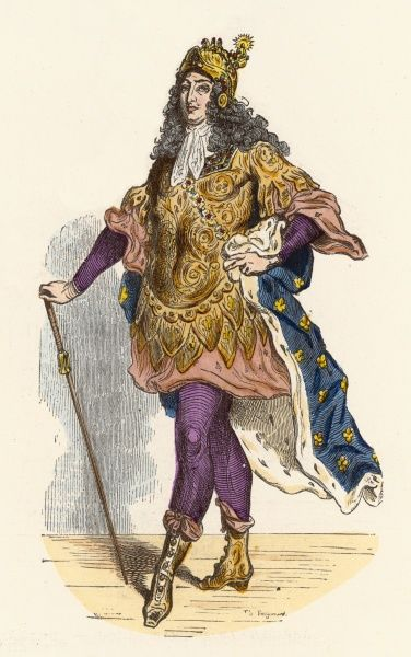 LOUIS XIV, KING OF FRANCE costumed to take part in a carrousel Date: 1638-1715