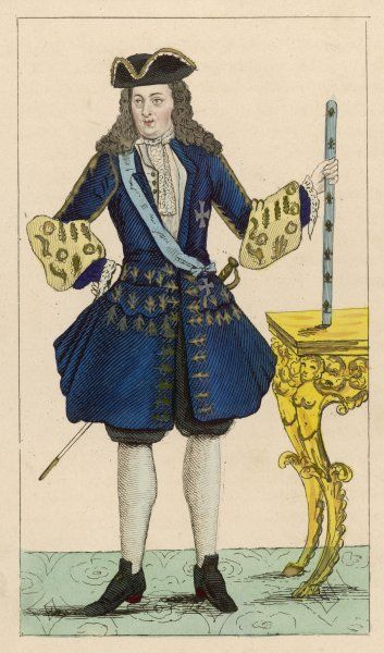 LOUIS XV KNOWN AS LE BIEN-AIME French King with royal baton
