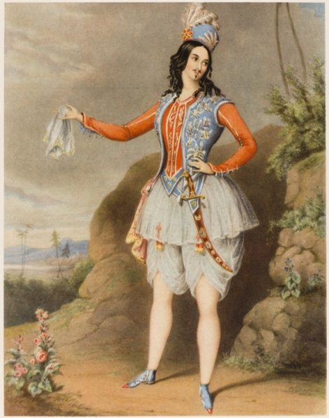 LOUISA FAIRBROTHER Actress and dancer in the role of Aladdin in 'The Forty Thieves&#39